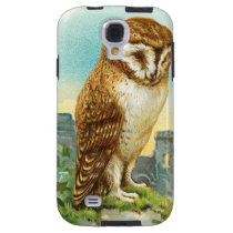 Vintage Barn Owl Galaxy S4 Case