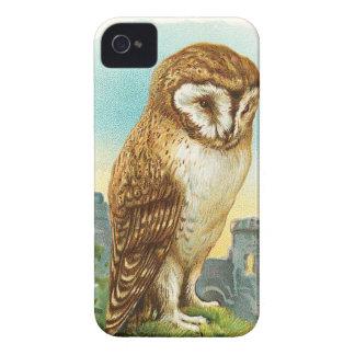 Vintage Barn Owl iPhone 4 Case-Mate Case