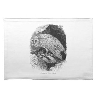 Vintage Barn Owl Placemat