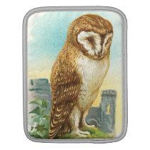 Vintage Barn Owl Sleeve For iPads