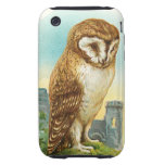 Vintage Barn Owl Tough iPhone 3 Cases