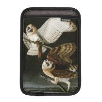 Vintage Barn Owls Illustratation (Audubon) iPad Mini Sleeve