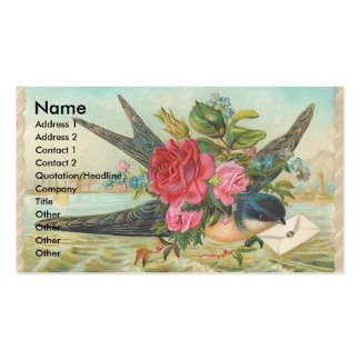 Vintage Barn Swallow Delivers An Envelope Double-Sided Standard Business Cards (Pack Of 100)