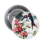 Vintage Barn Swallows 2 Inch Round Button