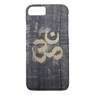 Vintage Barn Wood Gold Om Sign Yoga iPhone 7 Case
