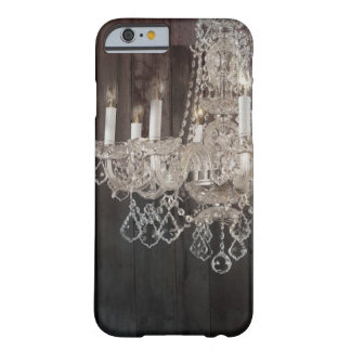 Vintage barn wood rustic chic crystal chandelier barely there iPhone 6 case