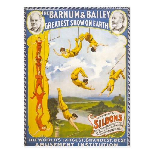 Vintage Barnum and Bailey Circus Post Cards