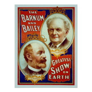 Vintage Barnum & Bailey Circus Poster