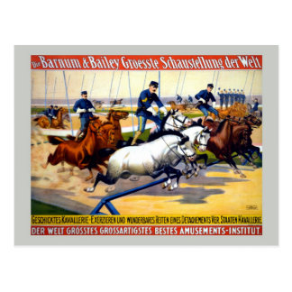 Vintage Barnum, Bailey Greatest show German circus Postcard