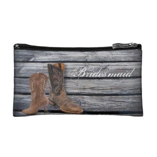 vintage barnwood Cowboy Boots Country wedding Cosmetics Bags