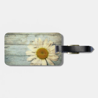 vintage barnwood daisy western country wedding tag for bags