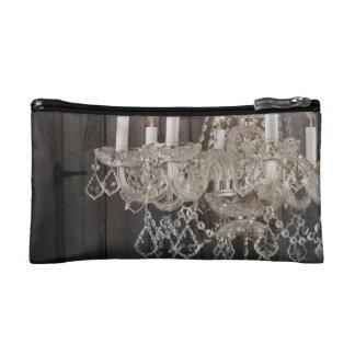 vintage barnwood purple chandelier bride makeup bags