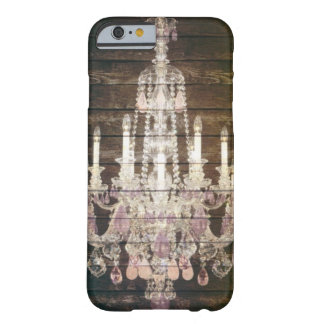 vintage barnwood purple chandelier paris fashion barely there iPhone 6 case