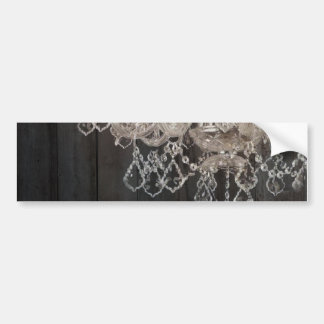vintage barnwood purple chandelier paris fashion bumper sticker