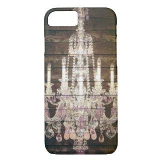 vintage barnwood purple chandelier paris fashion iPhone 7 case