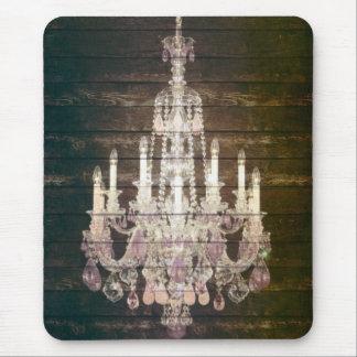 vintage barnwood purple chandelier paris fashion mouse pad