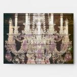 vintage barnwood purple chandelier wedding envelope