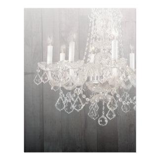 vintage barnwood purple chandelier wedding customized letterhead