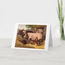 Vintage - Barnyard Friends, Card