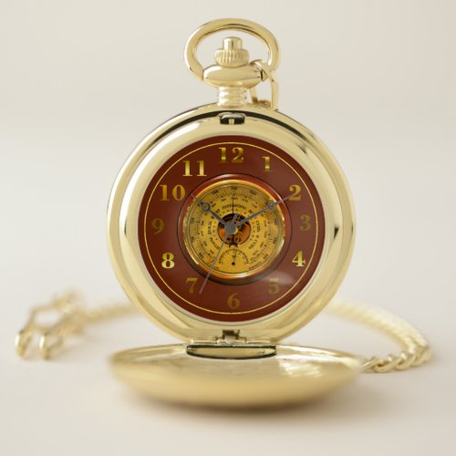 Vintage Barometer Pocket Watch