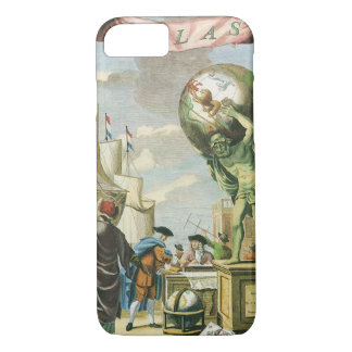 Vintage Baroque Era Atlas Frontispiece World Globe iPhone 7 Case