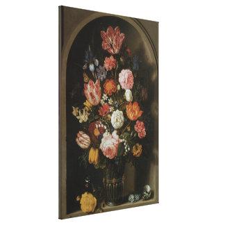 Vintage Baroque, Flower Piece by Bosschaert, Elder Canvas Print