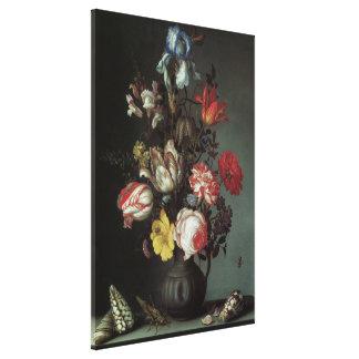 Vintage Baroque Flowers by Balthasar van der Ast Canvas Print