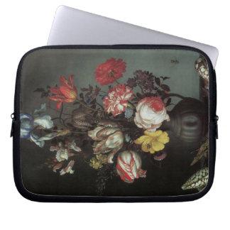 Vintage Baroque Flowers by Balthasar van der Ast Laptop Sleeve