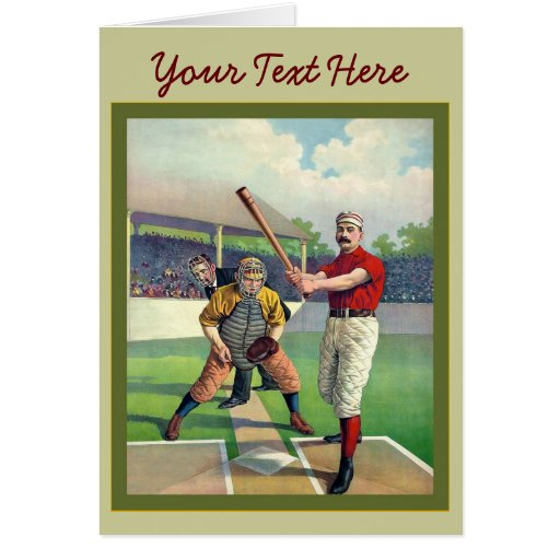Vintage Baseball 1895 Greeting Card
