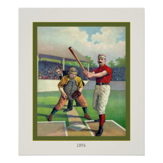 Vintage Baseball ~ 1895 Poster
