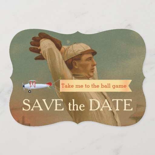 Vintage Baseball 1 Save The Date