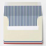 Vintage Baseball 5 x 7 Blue Stripes Envelopes