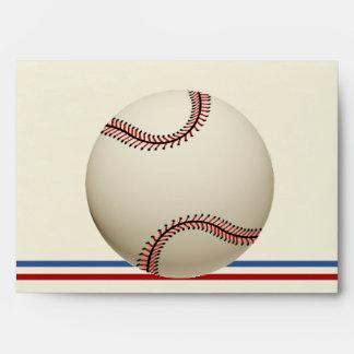 Vintage Baseball 5 x 7 Envelope