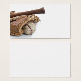Vintage Baseball and Bat Business Card