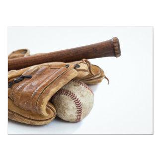 Vintage Baseball and Bat Card