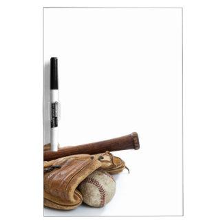 Vintage Baseball and Bat Dry-Erase Board