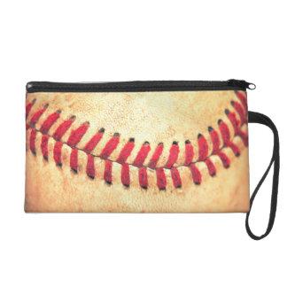 Vintage baseball ball wristlet clutch
