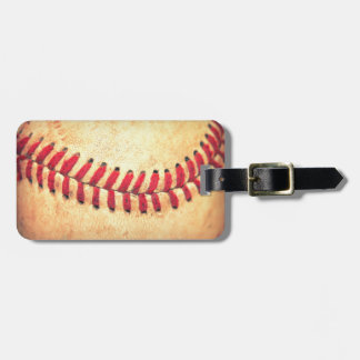 Vintage baseball ball bag tag