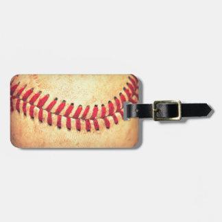 Vintage baseball ball bag tag