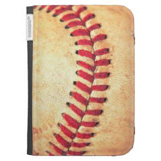 Vintage baseball ball kindle folio cases