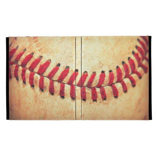 Vintage baseball ball iPad case
