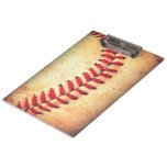 Vintage baseball ball clipboards