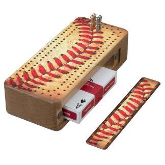 Vintage baseball ball cribbage board