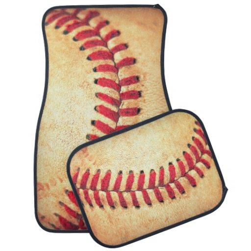 Vintage Baseball Ball Floor Mat Zazzle