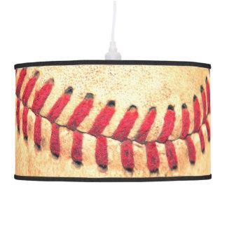 Vintage baseball ball hanging lamp