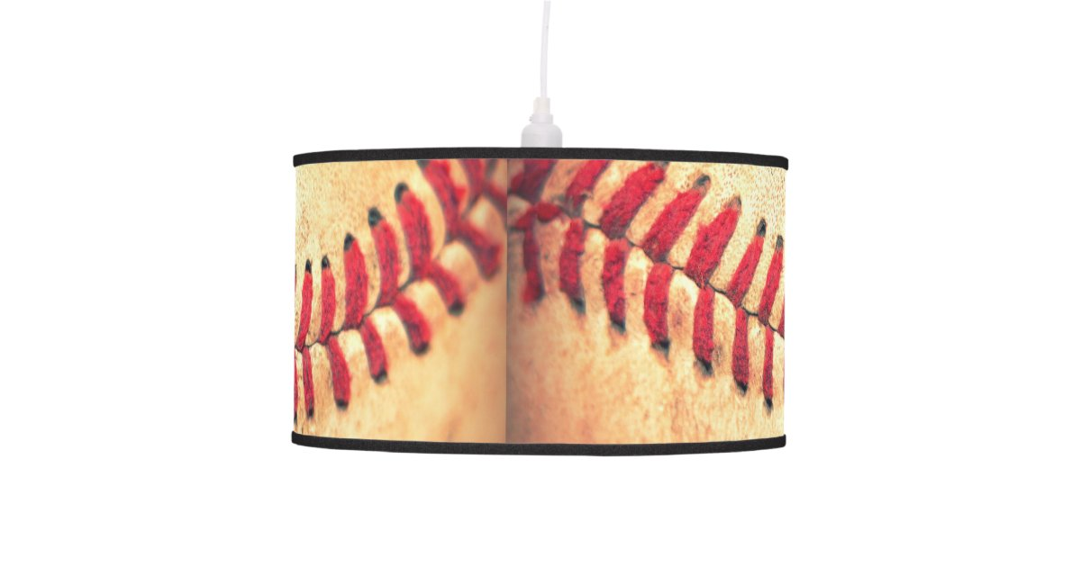 Vintage Baseball Lamp 40