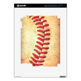 Vintage baseball ball iPad 3 decal
