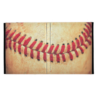Vintage baseball ball iPad folio case