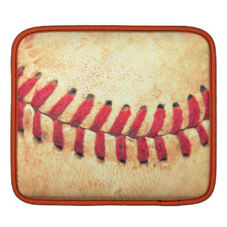 Vintage baseball ball iPad sleeves