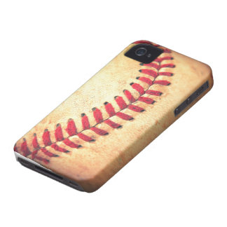 Vintage baseball ball iPhone 4 Case-Mate cases